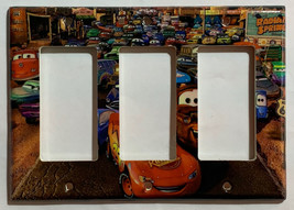 Cars Lightning McQueen Light Switch Power Outlet wall Cover Plate Home Decor image 6