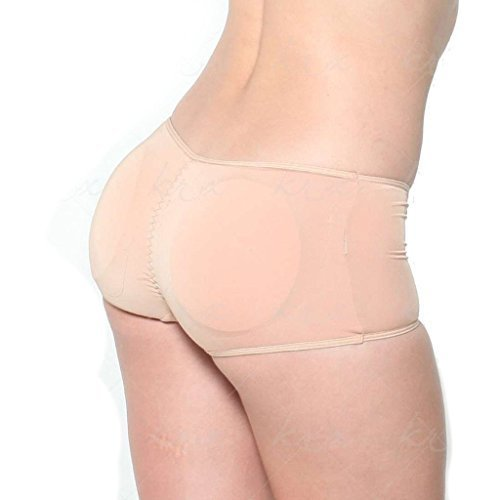 Butt Booster - Super Low Rise Lift the Hip Pants (Large, Beige)