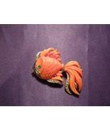 Vintage Hattie Carnegie Swirled Lucite Gold Fish Pin Brooch - $44.55