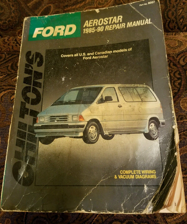 ford aerostar 1985 90 chilton repair manual and similar items rh bonanza com 1992 ford aerostar owners manual 1992 ford aerostar owners manual