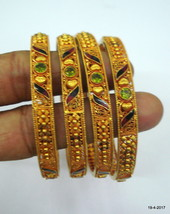 vintage 22kt gold bangle bracelet set 4pc handmade gold jewelry fine work - $4,949.01