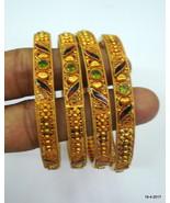 vintage 22kt gold bangle bracelet set 4pc handmade gold jewelry fine work - $4,949.01