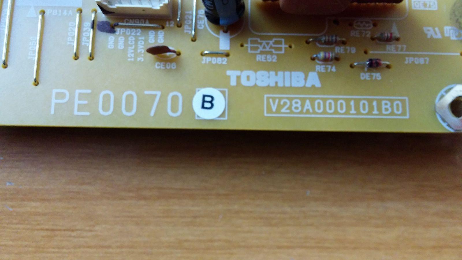 Toshiba 75002920 (PE0070B, V28A000101B0) Low B Board