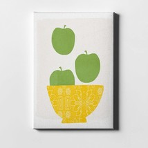 """Bowl Of Green Apples By Woods Giclee Canvas Wall Art, 12"""" X 16"""", Rary - $82.99"""