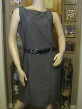 Stylish Dark Gray Dress with Belt by AGB in size 12 - $14.89