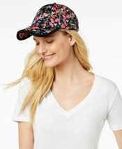 Steve Madden Classic Neon Floral Baseball Cap (Black Floral, One Size) - $22.90