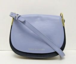 Tommy Hilfiger $198 NWT Blue Shoulder Crossbody Saddle Bag Solid Leather... - $68.31