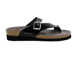 Sandales plates MEPHISTO HELEN N en cuir verni noir - Chaussures Femme - $93.18