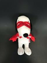 "MARVEL Snoopy Masked Super Hero Stuffed Animal Plush Red Cape 8"" Toy PEA... - $10.46"