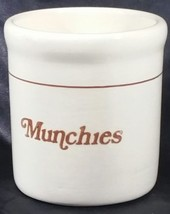 "Vintage Geatano Pottery (Calif) ""Munchies"" Crock - $14.85"