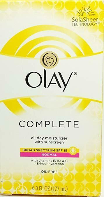 Primary image for Olay Complete Lotion All Day Moisturizer with SPF 15 for Normal Skin, 6 Fl Oz