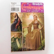 Simplicity 0501 Lord of Rings Princess Andrea Schewe Costume Dress N5 Un... - $11.26