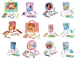 Disney Store Zip Up Art Case Stationary Kit School Supplies Pencils Mark... - $39.95