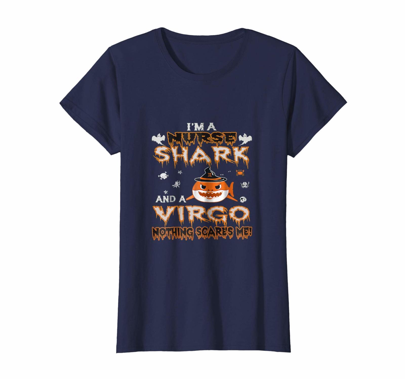 Funny Tee - I'm a Virgo nurse shark Halloween Tshirt Wowen