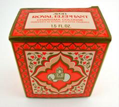 Vintage Avon Royal Elephant Charisma Cologne Milk Glass with Gold Tone... - $9.85