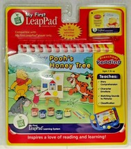 My First LeapPad Disney Poohs Honey Tree Flip Book & Cartridge Home Learning New - $12.17