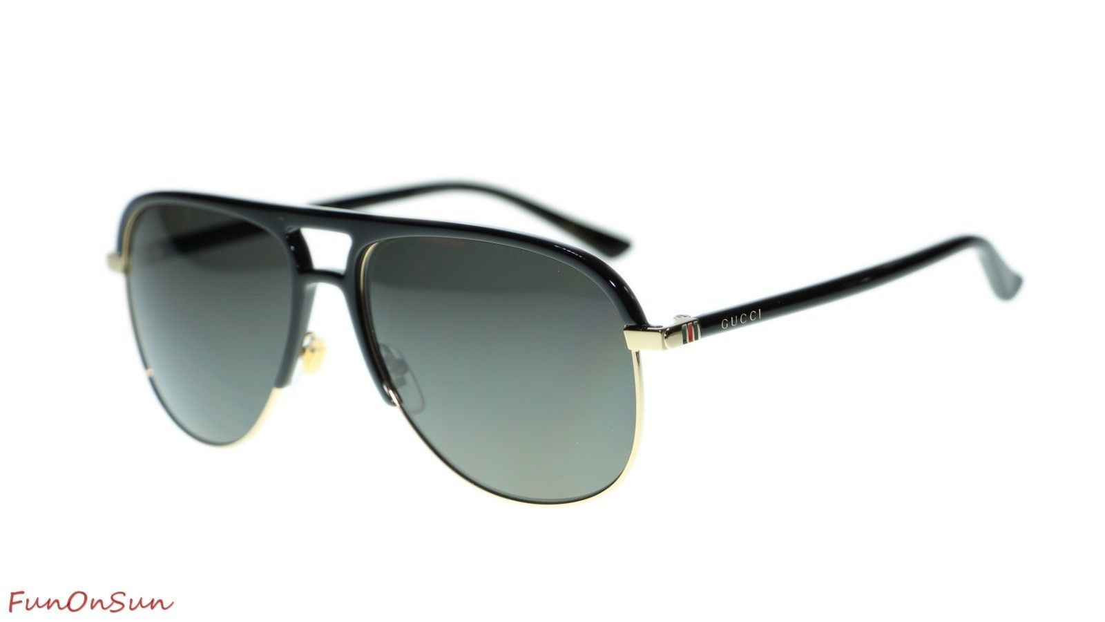 d8e2df41ce1a 10. 10. Previous. NEW Gucci Men Sunglasses GG0292S 002 Black Grey Polarized  Lens Pilot 60mm. NEW Gucci ...