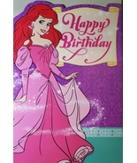 "Disney Little Mermaid Greeting Card Birthday ""Happy Birthday"" - $3.89"