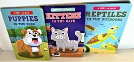 NEW Lot of 4 POP UP Baby Toddler Board Books Animals Kittens Puppies Rep... - $11.67