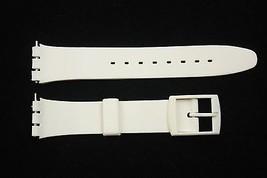12mm Damen Weiß Weich PVC Ersatz Band Armband Passt Swatch Uhren - $7.47