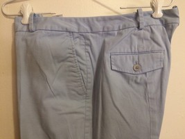 Talbots Signature Capri Pants Size 14 Sky Blue Cotton Stretch 4 Pockets - $10.00