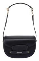 Michael Kors  Cary NWT Black Leather Shoulder Bag / Crossbody Duel Straps - $186.01