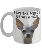 """Funny Chihuahua Coffee Mug """"Yoda Chihuahua May The Force Be With You"""" Gr... - $14.95"""