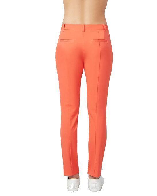 Rachel Roy Womens Fitted Straight-Leg Ankle-Zip Trouser Pants 2 Poppy Orange $89