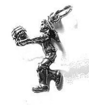 LOOK 2578 VolleyBall Player Sports Sterling Silver 925 Charm Jewelry New - $13.04
