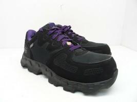 Timberland PRO Women's Powertrain Alloy-Toe Work Shoe A16TF Black/Purple 9W - £29.01 GBP