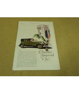 Chrysler Vintage Laminated Imperial 80 Ad White/Green/Pink Country Life - $13.41