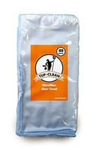 "Tuf-Clean A73110 Glass Cleaning Microfiber Cloth, 16"" x 16"", Blue, Pack of 48 - $147.96"