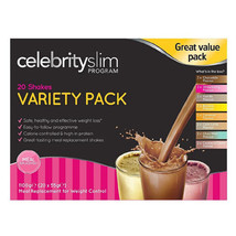 Celebrity Slim 10 Day Shake Variety Pack 20g x 55g Sachets in 8 Flavours - $59.03
