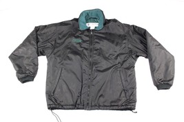 Vintage 90s COLUMBIA Mens Large Full Zip Spell Out Puffer Bomber Jacket ... - $34.70