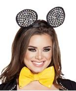 Rhinestone Black Mouse Ears Headpiece - $21.00