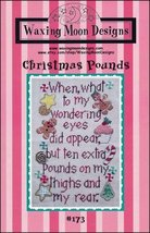 Christmas Pounds holiday cross stitch chart Waxing Moon Designs  - $7.00