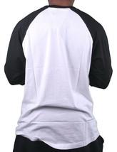 Hawke & Dumar Mens Drag Race Baseball Black White Raglan T-Shirt NWT image 2
