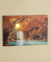 Lighted Treescapes Canvas Wall Art Beautiful Artwork Battery Operated - $23.99
