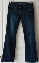 American Eagle Favorite Boyfriend Jeans Size 2 Short Stretch Blue Distre... - $19.78