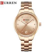 Curren 9003 New Luxury Women Watches Rhinestone Quartz ladies Watch Full Steel F - $103.64