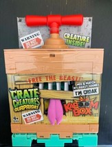 Crate Creatures Surprise Kaboom Box Croak Mix n Match Pink Tongue NEW in... - $24.73