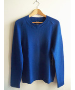 GAP Women's 100% Cashmere Crewneck Sweater, Blue, Size L, NWT - $93.09