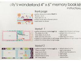 "S.E.I. Scrapbook in a Bag, Ally's Wonderland, 4"" x 6"" Memory Book Kit image 5"