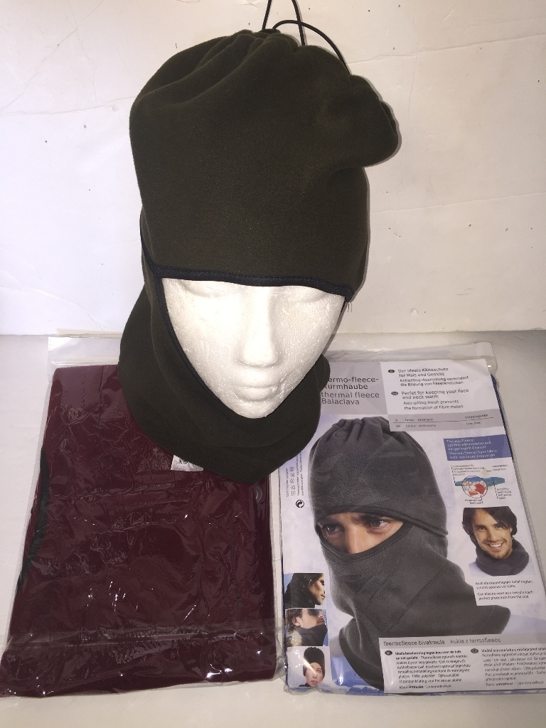 Case of [48] Fleece Balaclava Hooded Face Mask & Neck Warmer