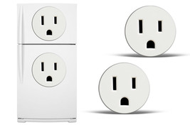 Dry Erase Refrigerator Vinyl Electrical Outlet Decal Funny Fridge Stickers - $24.70