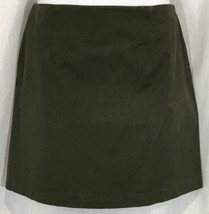 Gap 4 Lined Mini Skirt Army Green Flat Front Short Stretch  - $24.14
