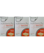 3x PatchMD Multivitamin Plus Topical Vitamin Patch 30 Day (Total = 90) P... - $42.99