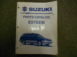 1998 Suzuki Esteem Parts Catalog Shop Manual Factory Feo Book 98 Worn Stained - $21.11