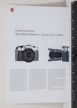 Leica Vario Elmar Camera Catalog Brochure g25 - $31.81