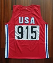 Carl Lewis Autographed Signed Jersey USA Team Track Olympics JSA  - $102.49